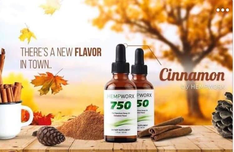 Hempworx New Products cinnamon cbd oil