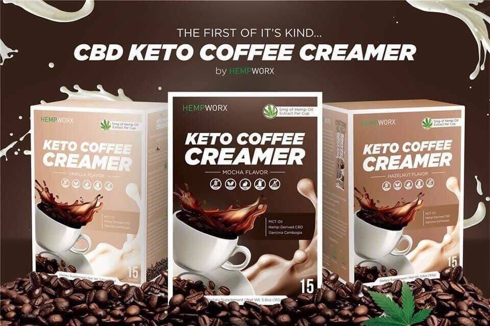 New Hempworx Products Keto CBD Coffee Creamer