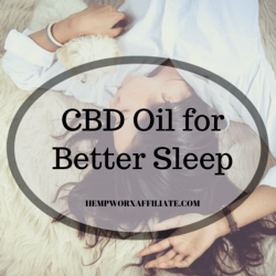 CBD Oil for better Sleep